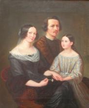 Ludwig Emil Grimm: Selbstportraet mit Familie