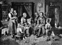 Louis Katzenstein: Die Brüder Grimm bei der Märchenfrau